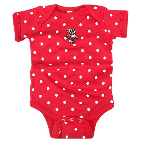 Red Wisconsin Home Infant Bodysuit