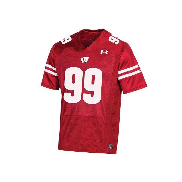 Wisconsin Badgers Under Armour Red JJ Watt NFLPA Replica Football Jersey