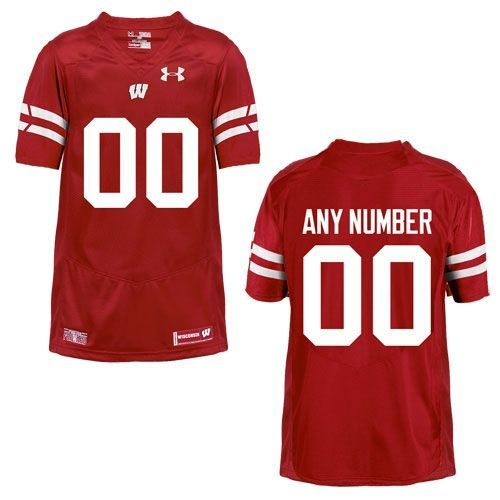 Wisconsin Badgers Under Armour Youth Custom Football Jersey