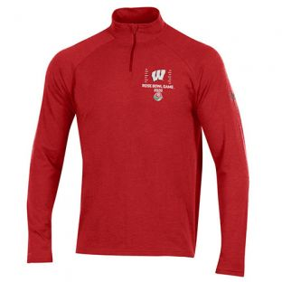Wisconsin Badgers Under Armour Red 2020 Rose Bowl Dash 1/4 Zip