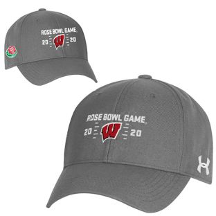 Wisconsin Badgers Under Armour Gray 2020 Rose Bowl Marker Adjustable Cap