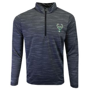 Milwaukee Bucks Antigua Black Capacity 1/4 Zip