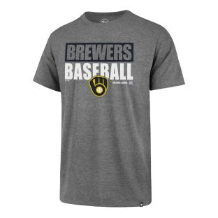 Milwaukee Brewers '47 Brand Grey Blockout Rival T-Shirt