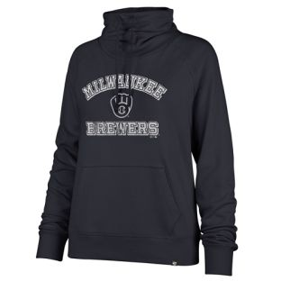 Milwaukee Brewers '47 Brand Navy Women's Moonshot Cowl Long Sleeve