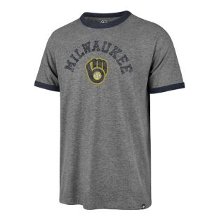 Milwaukee Brewers '47 Brand Slate Freestyle Ringer T-Shirt