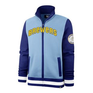 Milwaukee Brewers '47 Brand Carolina Blue Heritage Iconic Track Jacket