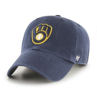 Milwaukee Brewers '47 Brand Navy Ball & Glove Cleanup Adjustable Cap