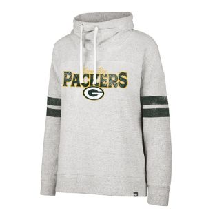 Green Bay Packers Gray Women's Offside Funnel Neck Pullover