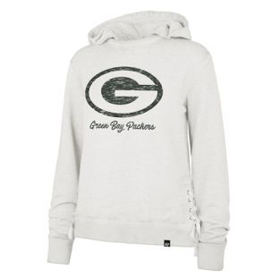 Green Bay Packers Stone Women's Sideline Lace Hooded Sweatshirt