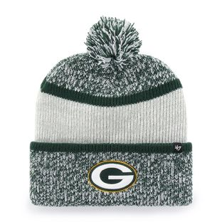 Green Bay Packers '47 Brand Grey Women's Copeland Cuffed Pom Knit