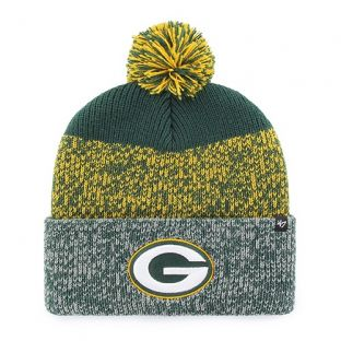 Green Bay Packers '47 Brand Tri Color Static Cuffed Pom Knit