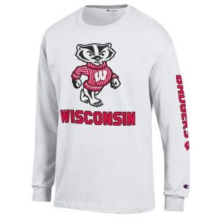 Wisconsin Badgers Champion Big Bucky Sleeve Long Sleeve T-Shirt