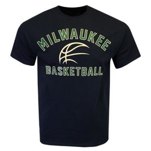 Milwaukee Basketball Black Arch Short Sleeve T-Shirt