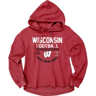 Wisconsin Badgers Women's Red 2020 Rose Bowl Fantoosh Hooded Sweatshirt