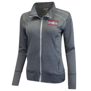 Wisconsin Badgers Women's Gray 2020 Rose Bowl Nicollet Full Zip Lightweight Jacket