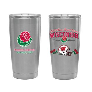 Wisconsin Badgers 2020 Rose Bowl Stainless Steel Travel Mug Tumbler