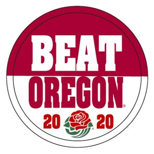 Wisconsin Badgers 2020 Rose Bowl Oregon Beat Button