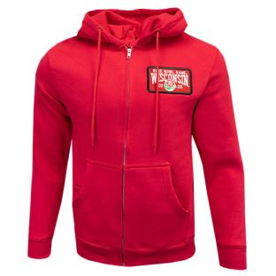 Wisconsin Badgers Red 2020 Rose Bowl Full Zip Hooded Sweatshirt