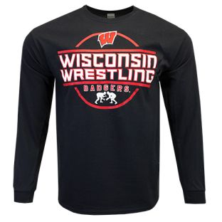 Wisconsin Badgers Wrestling Black House Show Long Sleeve T-Shirt