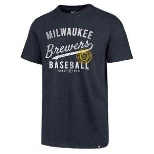 Milwaukee Brewers '47 Brand Navy Grandstand Club T-Shirt