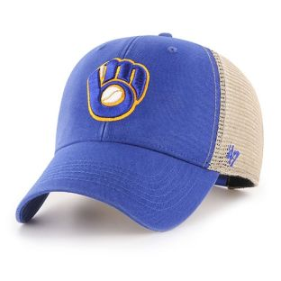 Milwaukee Brewers '47 Brand Royal Blue Ball & Glove Flagship Adjustable Hat