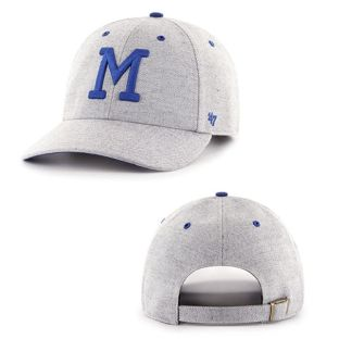 Milwaukee Brewers '47 Brand Grey Maccormack Adjustable Hat