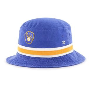 Milwaukee Brewers '47 Brand Royal Blue Stripe Bucket Cap