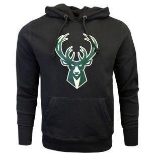 Milwaukee Bucks '47 Brand Black Headline Deer Hooded Sweatshirt