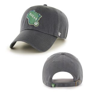 Milwaukee Bucks '47 Brand Charcoal State Cleanup Cap