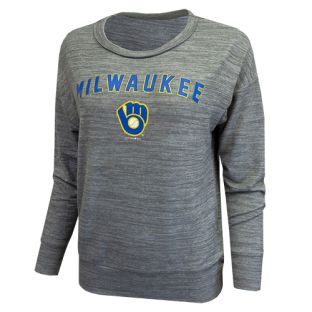 Milwaukee Brewers New Era Women's Gray Sweater Crew