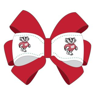 Wisconsin Badgers 2-Tone Hair Clip