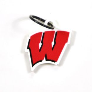 Wisconsin Badgers Motion W Metal Key Tag