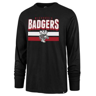 Wisconsin Badgers Black Retro Victory Splitter Long Sleeve T-Shirt
