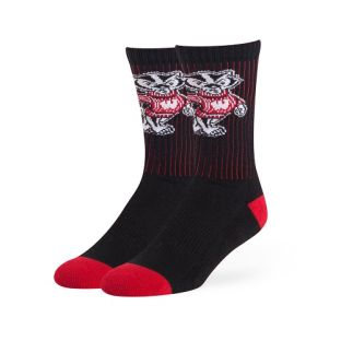 Wisconsin Badgers Strikethrough Crew Sock