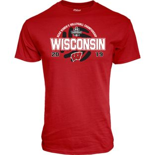 Wisconsin Badgers Volleball Red 2019 Championship Finals Scrum T-Shirt