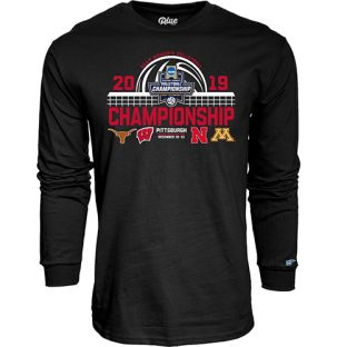 Wisconsin Badgers Volleyball Black 2019 Championship Finals Teams Long Sleeve T-Shirt