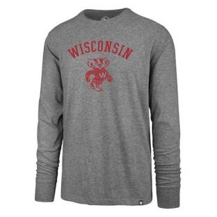 Wisconsin Badgers '47 Brand Slate Retro Super Rival Long Sleeve