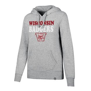 Wisconsin Badgers Women's Slate Grey Retro W Bucky Headline Hooded Sweatshirt