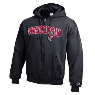 Wisconsin Badgers Champion Arch Over Bucky Zip Hooded Sweatshirt