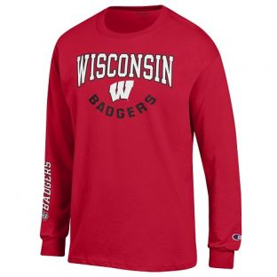 Wisconsin Badgers Champion U Shape W Arch Long Sleeve