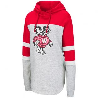 Wisconsin Badgers Colosseum Heather Women's Taylor Hooded Sweatshirt