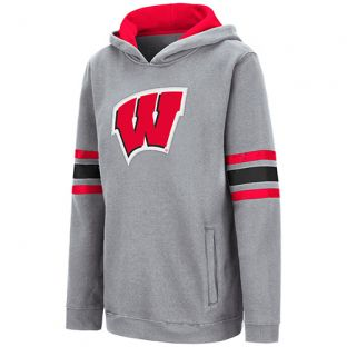 Wisconsin Badgers Colesseum Charcoal Youth W Chef Hooded Sweatshirt