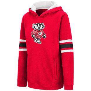 Wisconsin Badgers Colosseum Red Youth Bucky Chef Hooded Sweatshirt