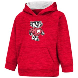 Wisconsin Badgers Colosseum Red Toddler Bucky Statler Hooded Sweatshirt