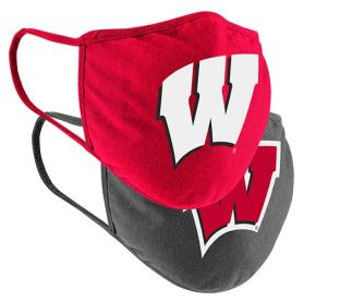 Wisconsin Badgers Colosseum 2 Pack Cotton Face Covering
