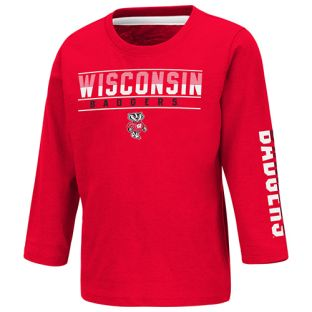 Wisconsin Badgers Colosseum Red Toddler Flackless Long Sleeve T-Shirt