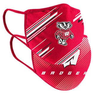 Wisconsin Badgers Colosseum Youth 2 Pack Face Coverings