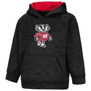 Wisconsin Badgers Colosseum Black Toddler Bucky Statler Hooded Sweatshirt