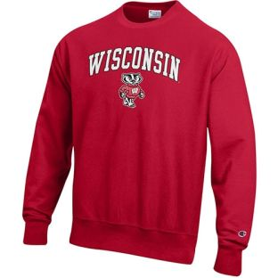 Wisconsin Badgers Champion Reverse Weave Arch Bucky Crew Neck Sweatshirt