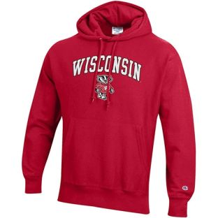 Wisconsin Badgers Champion Reverse Weave Arch Bucky Hooded Sweatshirt